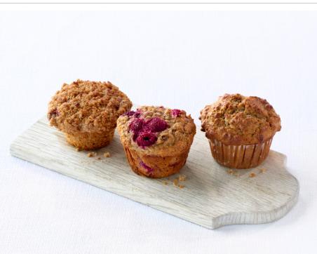 Muffins aux framboises surgelées