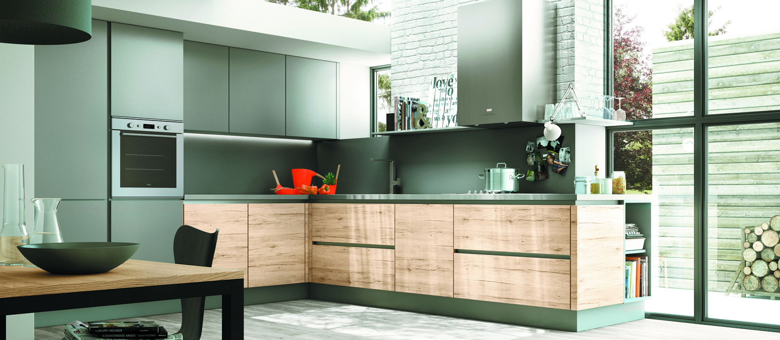Cuisine design inox pr l vement d for Cuisine inox design