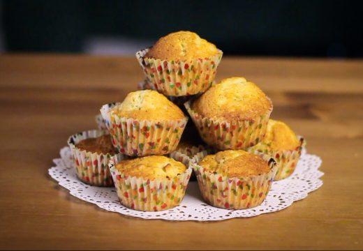 Muffins aux pommes et beurre de cacahuète